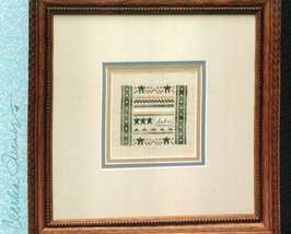 CLEARANCE Pocket Sampler Dad cross stitch chart Heart in Hand - $4.00