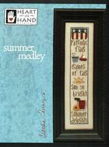 CLEARANCE Summer Medley cross stitch chart Heart in Hand - $4.00