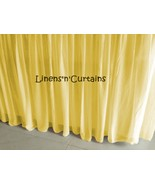 Olympic Queen size YELLOW Chiffon Ruffled Bed Skirt in any drop length - $69.99+