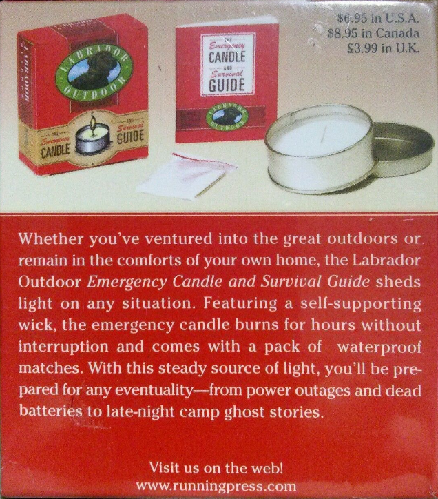 Labrador Outdoor Mini Kit Emergency Candle and Survival Guide