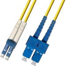 150 Meter - Singlemode Duplex Fiber Optic Cable (9/125) - LC to SC - Yellow - $158.21