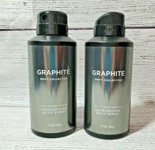 "2 - Bath & Body Works ""Graphite"" Mens Deodorizing Body Spray - $21.95"
