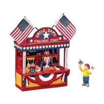 Dept 56 Uncle Sam's Fireworks Stand 56.54974 by Department 56 - $59.38