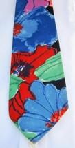 Water Color Floral Necktie Basic Elements All cotton - $9.99