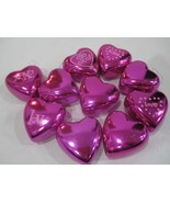 """Valentines Day Pink Shiny Hearts 2.25"""" Ornaments Set of 10 Decorations  ... - $16.99"""