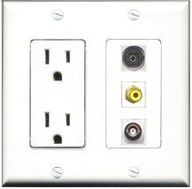 RiteAV - 15 Amp Power Outlet 1 Port RCA Yellow 1 Port Toslink 1 Port BNC... - $29.69