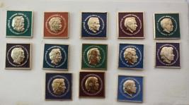 Lot of 13 lapel pins, Russian, World Chess Champions, original box, Medal Badge - $89.09