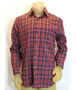 Sir Pendleton Shirt 100% Wool Macpherson Red Tartan Mens Plaid Medium