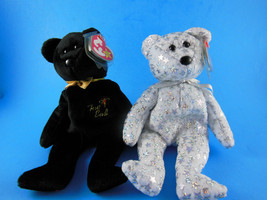 LOT OF 2 BEARS TY BEANIE BABIES  THE BEGINNING & THE END MINT With TAGS - $11.27