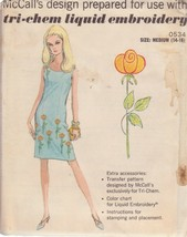 McCALL'S PTRN 0534 SIZE MD 14/16 DRESS WITH TRANSFER FOR LIQUID EMBROIDE... - $3.90