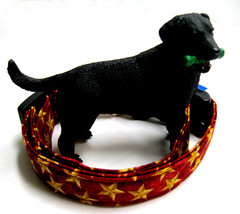 Gold Star dog collar on red background, ..50 or 75 inch wide  - $14.99