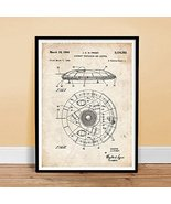 FLYING SAUCER US AIR FORCE UFO ALIEN PATENT PRINT 18X24 POSTER GIFT 1964... - $24.97