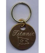 Solid Brass Keyring Titanic Novelty Engraved Locker Tag - $6.95