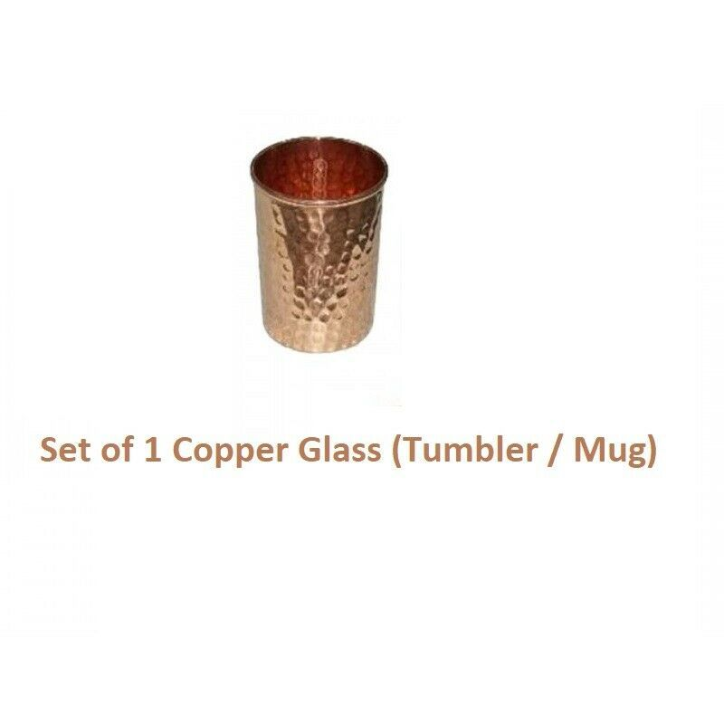 Pure Hammered Copper Jug With Mug Set Highly Energized For Ayurvedic Benefit