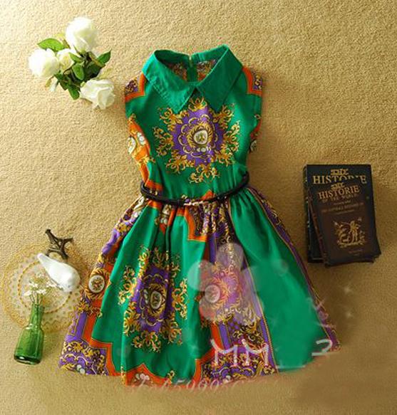 SALE. IT Girl Dress. Ethnic Print Luxe Print Navy And Orange Sleeveless Dress