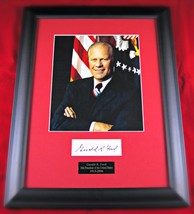 Gerald Ford autographed display - $397.20