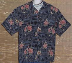 Big Dogs Hawaiian Shirt XL Gray Pink - $23.95