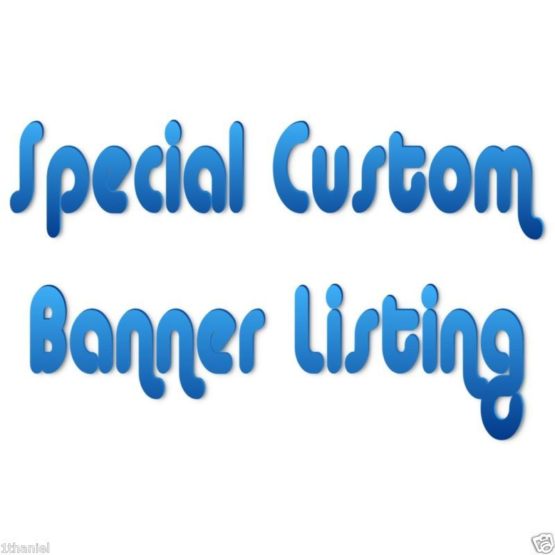 "Primary image for Special Custom ""Created"" Order -Personalized- Birthday Banner Party Decoration!"