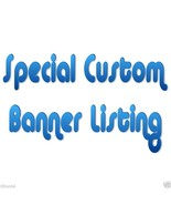 "Special Custom ""Created"" Order -Personalized- Birthday Banner Party Deco... - $39.95"