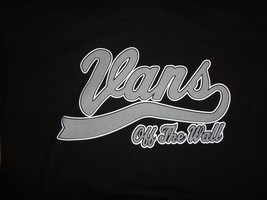 Black Vans Off The Wall Skateboard T Shirt Adult M Free US Shipping - $14.12