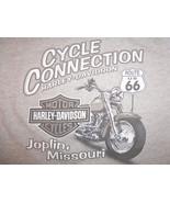 Harley Davidson Motorcycles Joplin Missouri Grey 90/10 Graphic Print T S... - $16.34