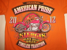 Sturgis South Dakota Black Hills Motorcycle Rally 2012 Black Graphic T Shirt - S - $17.17