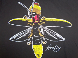 Firefly Joss Whedon Sci-Fi Fan TV Series Black Graphic Print T Shirt - S - $17.17