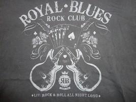 Black Royal Blues Rock Club T Shirt Adult L Free US Shipping - $17.13