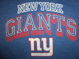 NFL New York Giants Football Team Blue 50/50 Graphic Print TShirt S - $17.17