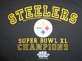 NFL Pittsburgh PA Steelers 2006 Super Bowl Champs Black Graphic Print T ... - $15.45