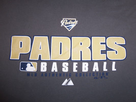 MLB Authentic Collection San Diego Padres Baseball Gray Graphic T-Shirt - M - $15.45