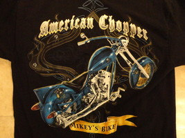 BLACK AMERICAN CHOPPER MIKEY'S BIKE GRAPHIC ADULT M NICE T SHIRT FREE US... - $19.64