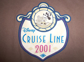 Vintage Disney Cruise Line 2001 Brown Graphic Print T Shirt - S - $17.17