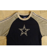 DALLAS COWBOYS BLUE GRAY HEAVY T SHIRT NFL YOUTH M 10-12 NICE FREE US SH... - $15.68