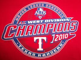 MLB Texas Rangers Baseball 2010 AL Champs Red Graphic T Shirt - S - $17.17