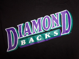 MLB Arizona Diamondbacks Baseball Black Henley Graphic Print T Shirt - Youth L - $18.16