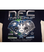 NFL Dallas Cowboys Football NFC Seatle Seahawks Matchup Navy Graphic T S... - $17.17