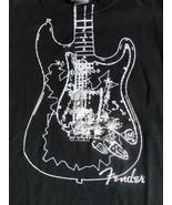 Fender Guitar Black T Shirt M Free US Shipping - $17.13