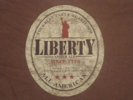 Liberty Amber Ale 'The Great Taste Of Freedom' Graphic T Shirt 2XL FREE US SHIP - $18.65