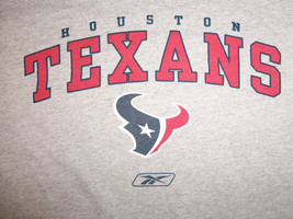 Reebok NFL Houston Texans Football Gray Graphic Print T Shirt - L - €15,24 EUR