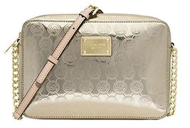 Michael Kors Gold Monogram Mirror Large East West Crossbody - $187.60