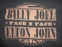 Black Billy Joel Elton John Face 2 Face 2009 tour T Shirt Adult M Free US Ship - $17.23