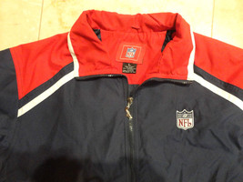 NFL RED WHITE BLUE JACKET SIZE LARGE VERY NICE FREE US SHIPPING - $29.54
