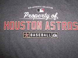 MLB Houston Astros Baseball 'Property Of' Gray 50/50 Graphic Print T Shirt - S - $17.17