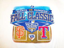MLB World Series 2010 Fall Classic Rangers Vs. Giants Rosters White T-Sh... - $17.17