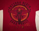 Daytona Beach Road Rally Motorcycles Red Graphic Print T Shirt - L
