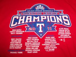MLB Texas Rangers Baseball 2011 AL Champs World Series Red Graphic T Shirt - M - $17.17