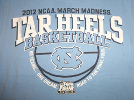 Champion NCAA North Carolina UNC Tar Heels 2012 Final Four Blue T Shirt - S - €15,24 EUR