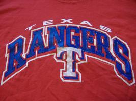 MLB Texas Rangers Baseball Lee Sport VF Knitware Red Graphic Print T-Shirt - XL - $17.17