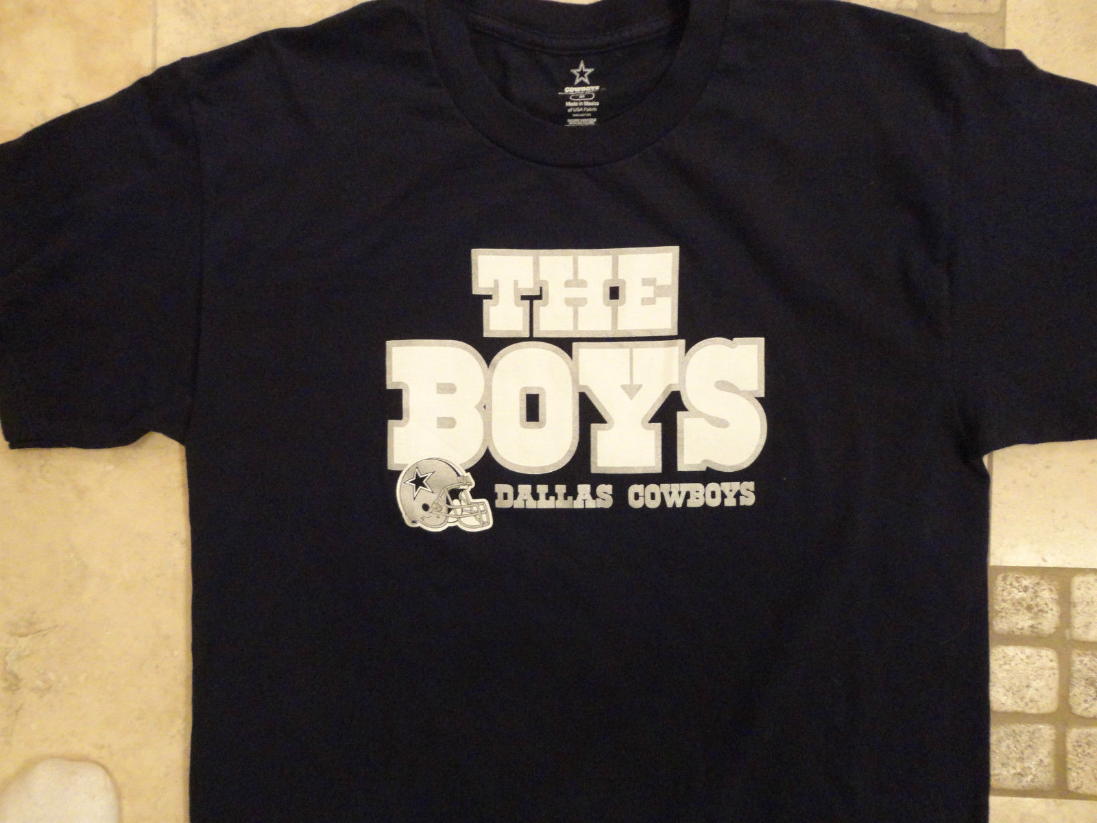 BLUE  Dallas Cowboys THE BOYS  NFL ADULT M T Shirt EXCELLENT FREE US SHIPPING